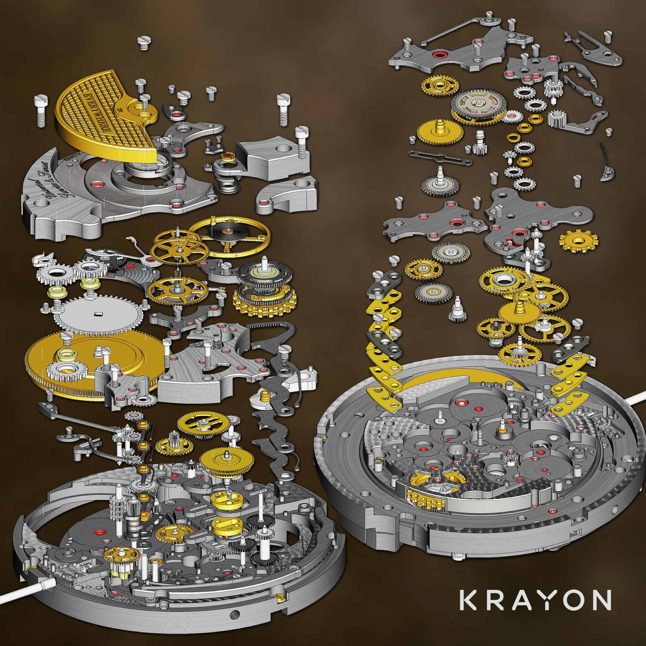 Krayon Everywhere - 595 Exploded Components
