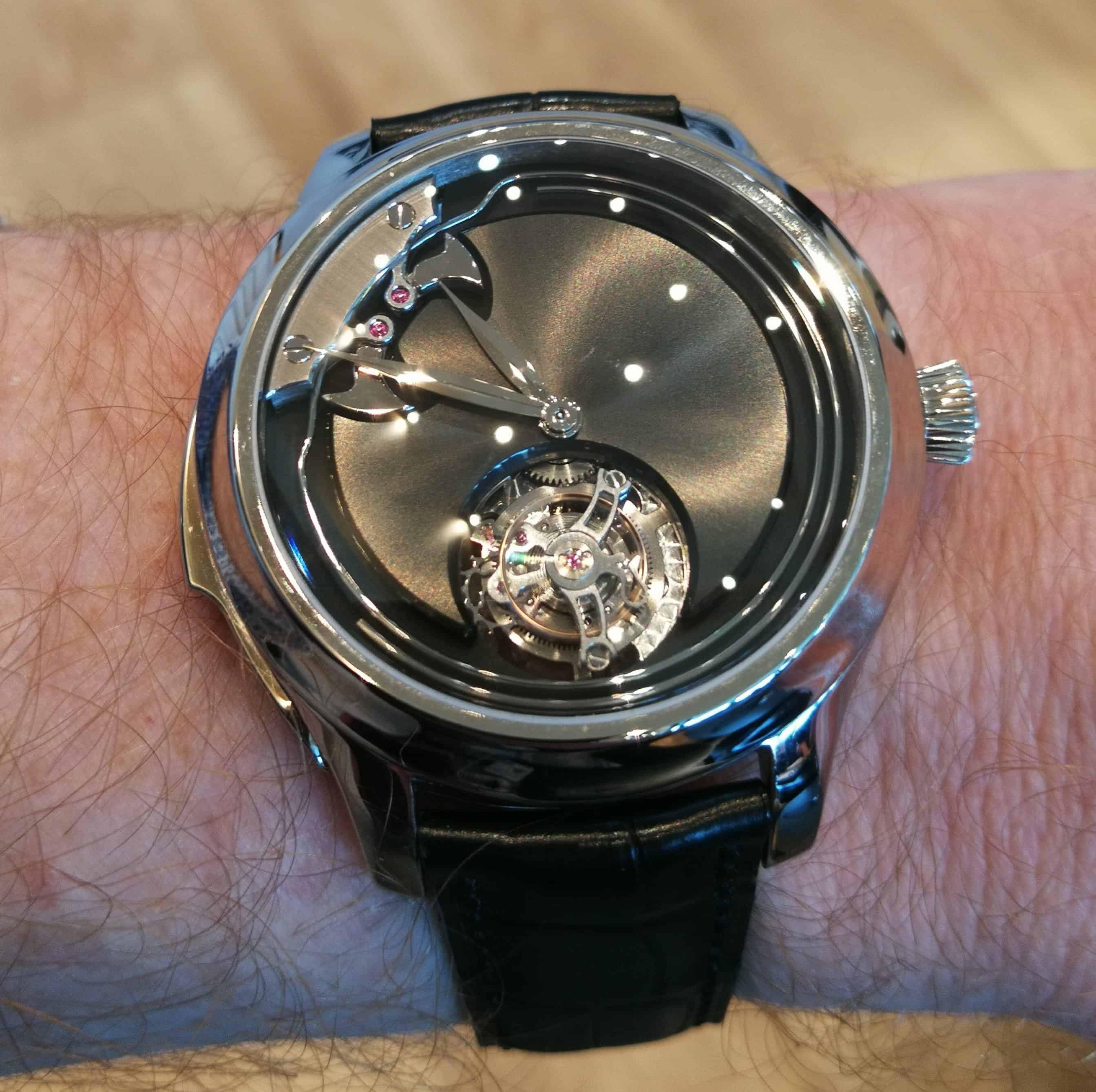 Endeavour Concept Minute Repeater Tourbillon on the wrist