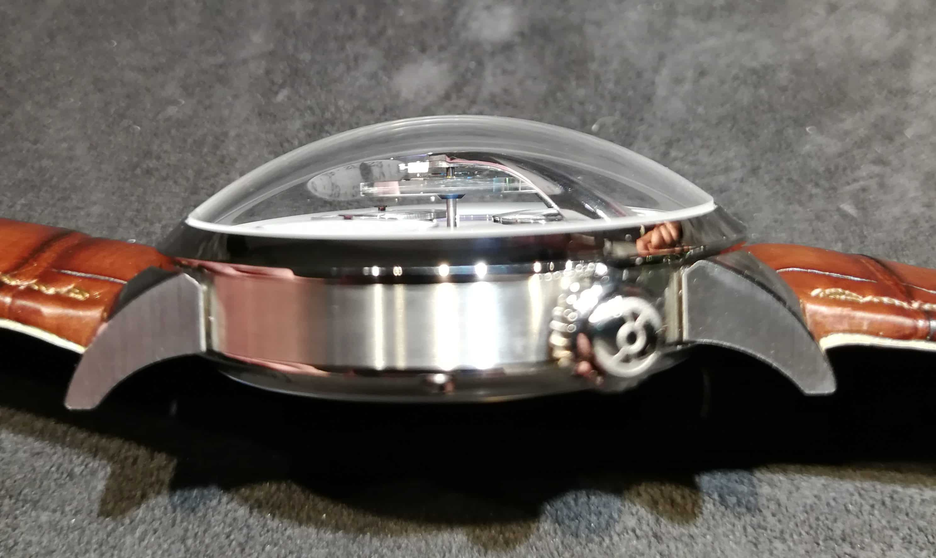 MB&F Legacy Machine Split Escapement Titanium Edition From the Side