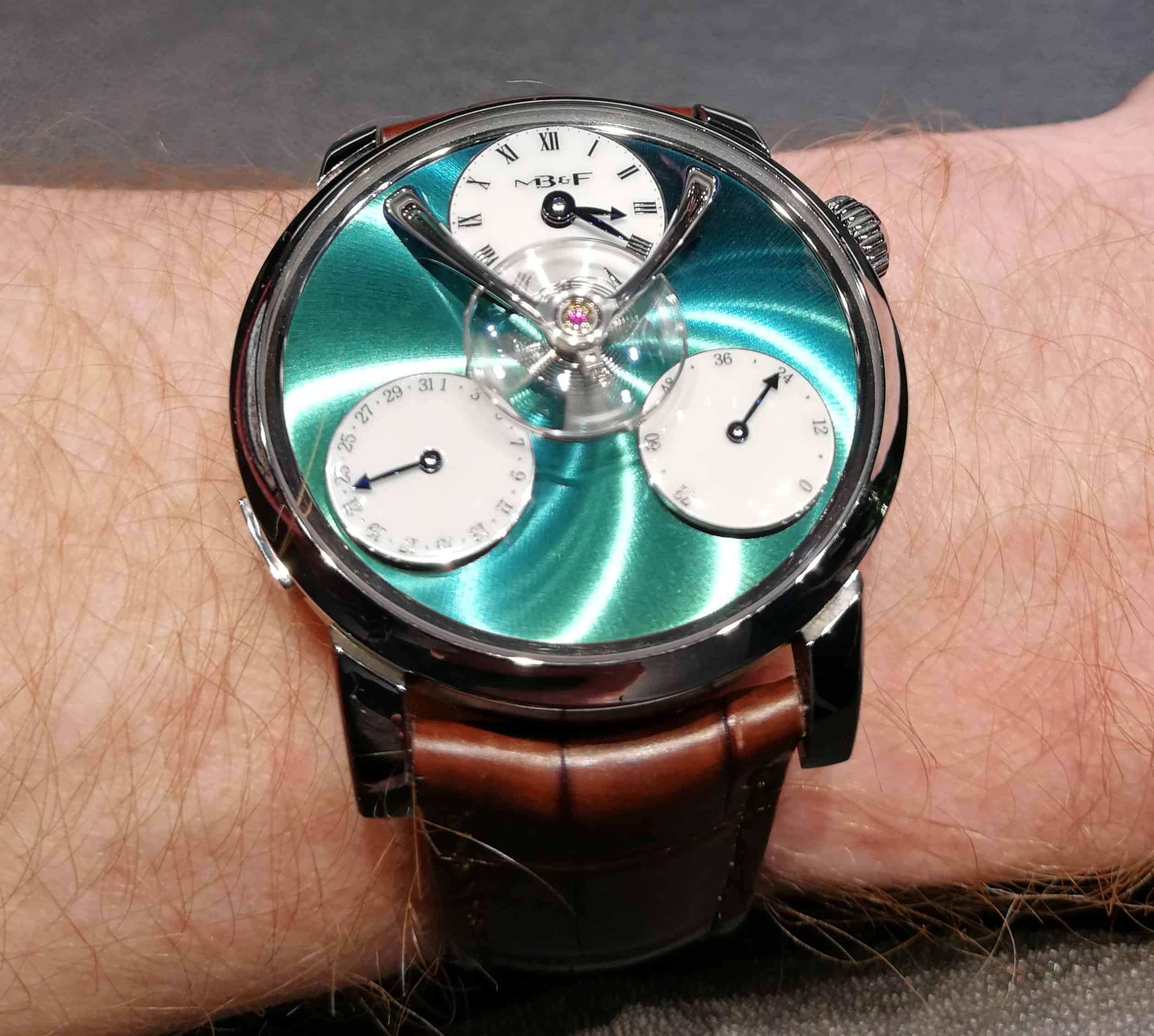 MB&F Legacy Machine Split Escapement Titanium Edition on the Wrist