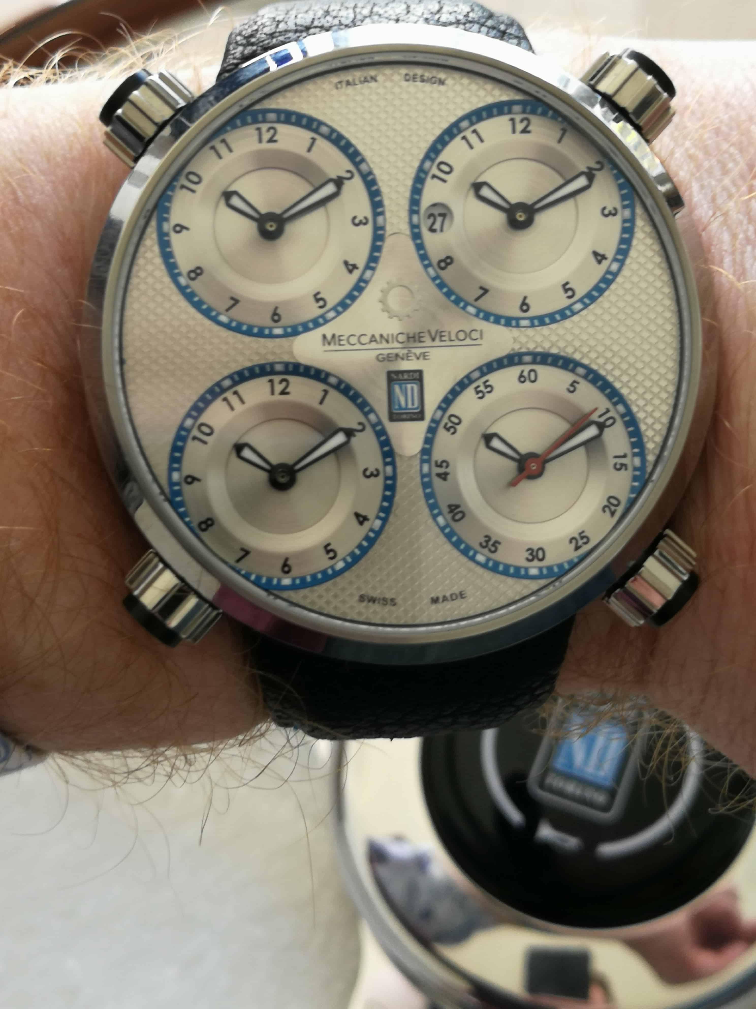 Meccaniche Veloci Quattro Valvoli Nardi on the wrist