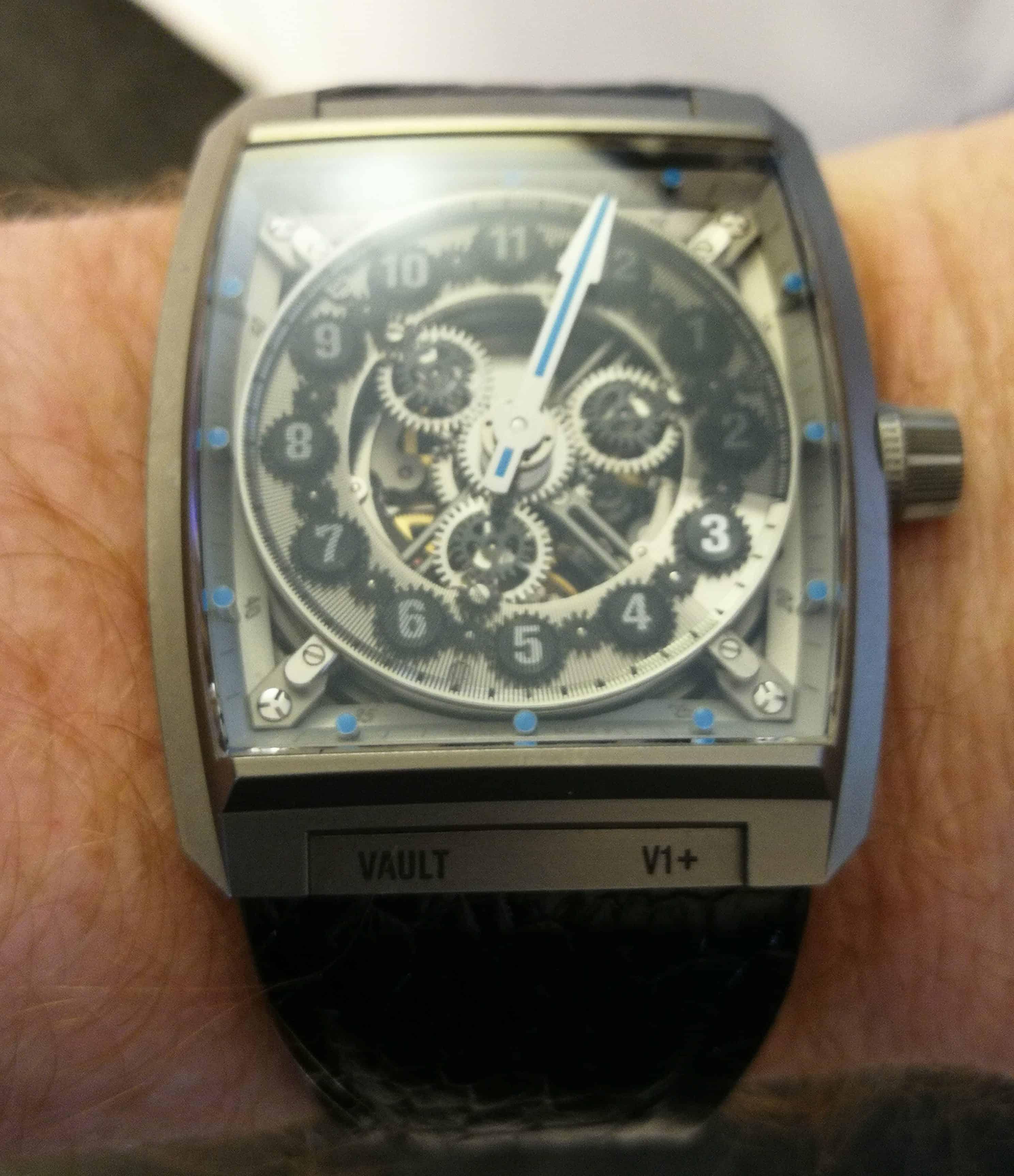 Vault V1+on the wrist