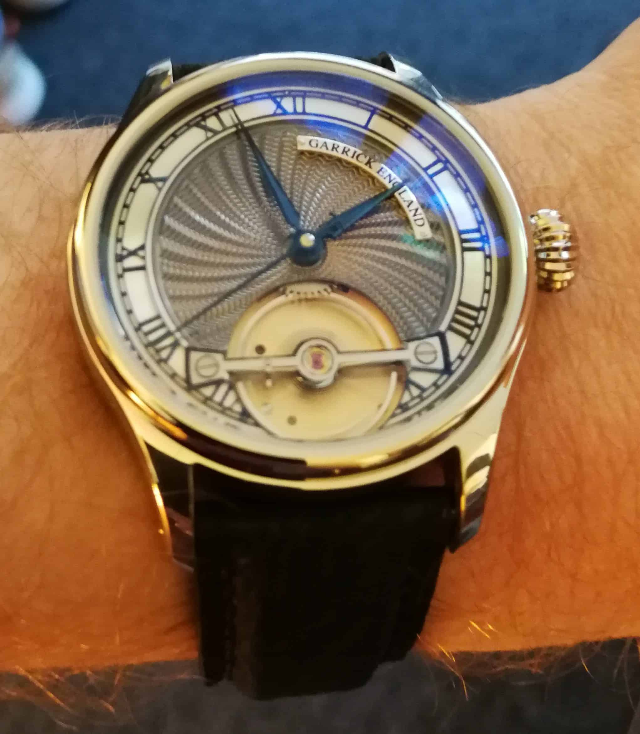 Garrick England S2 on the wrist