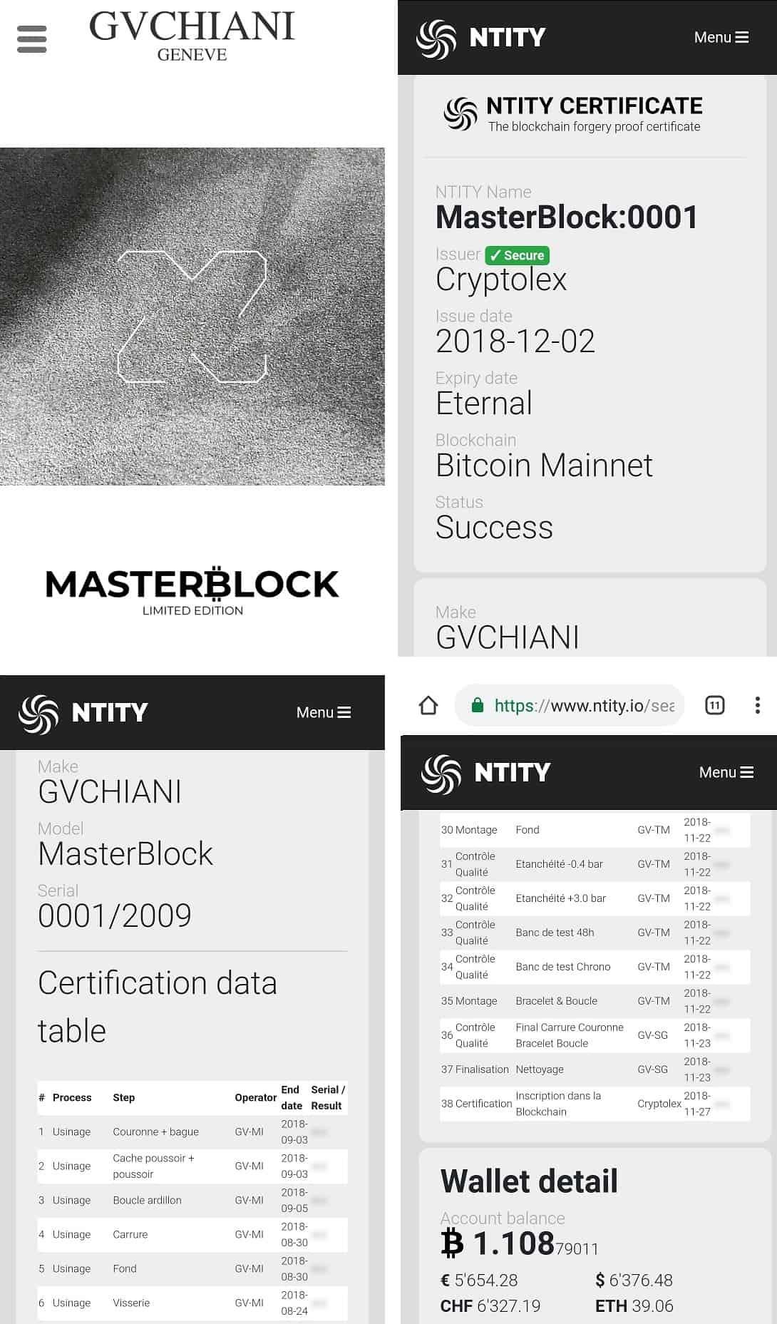 Masterblock Blockchain App