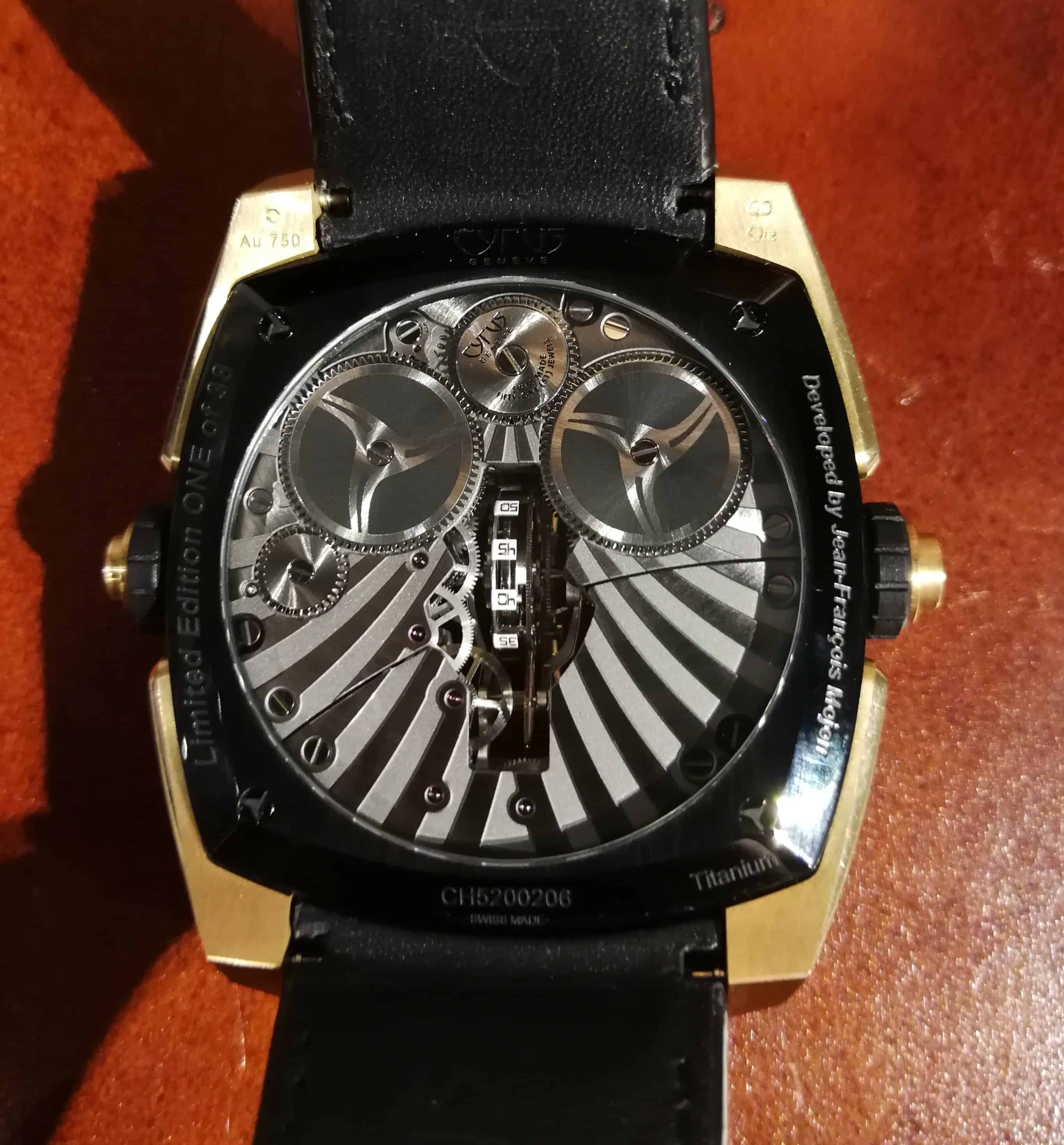 Cyrus Klepcys Vertical Skeleton Tourbillon Case back