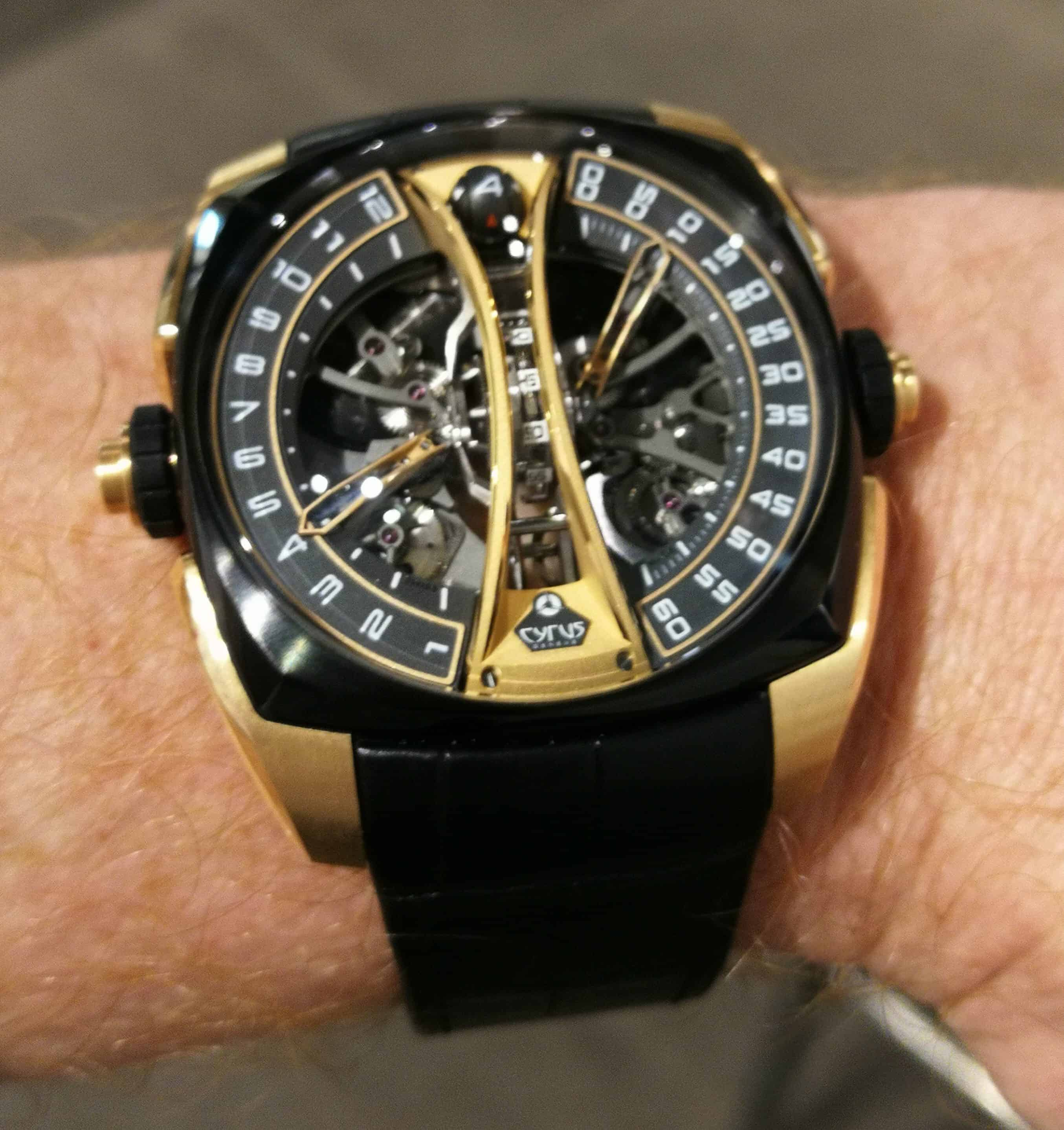 Cyrus Klepcys Vertical Skeleton Tourbillon on the Wrist