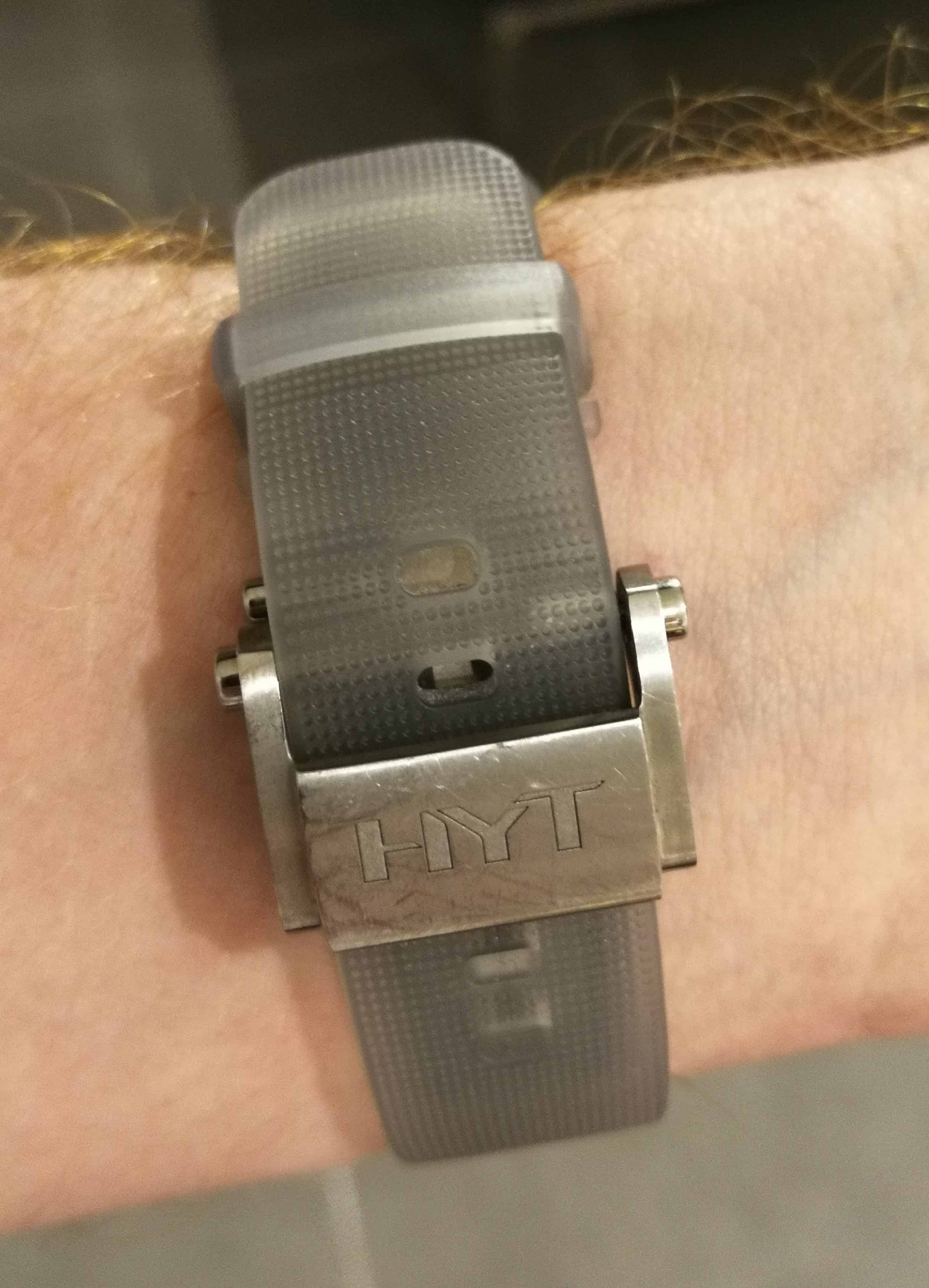 HYT H2O Time is Fluid Strap and Buckle