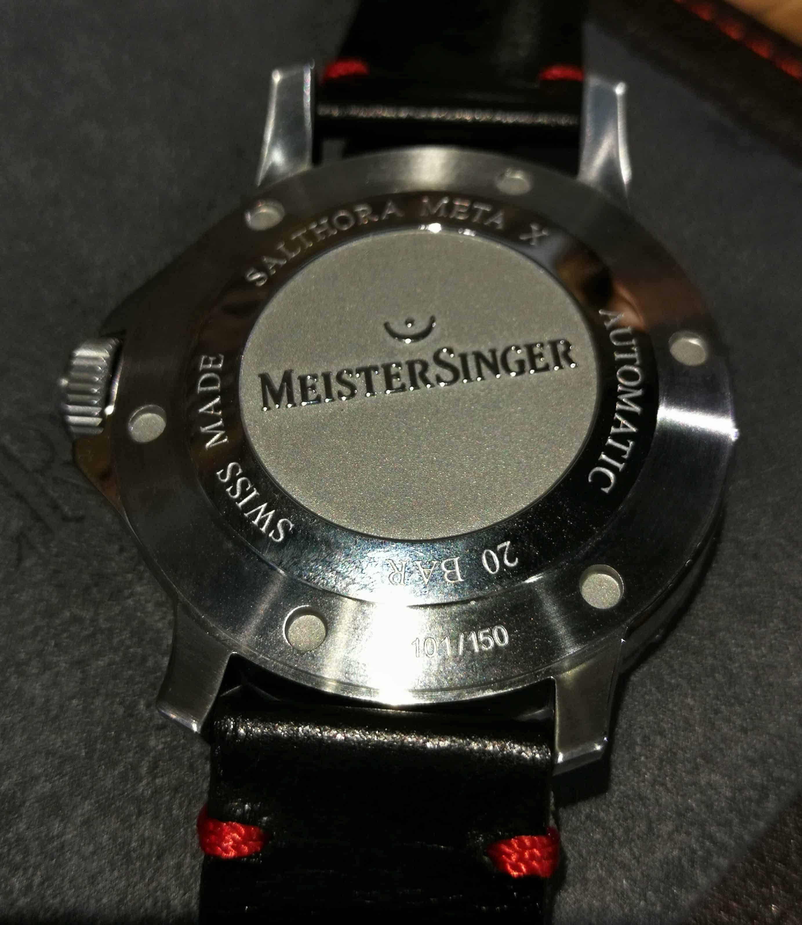 MeisterSinger Salthora Meta X Case Back