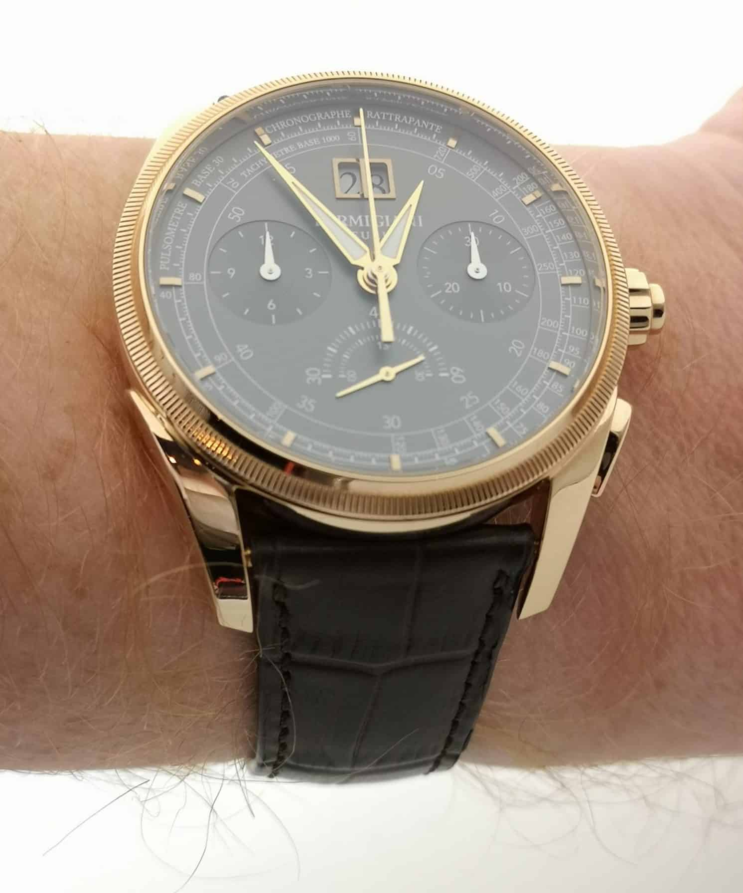 Parmigiani Fleurier Tonda Chronor Slate On the Wrist
